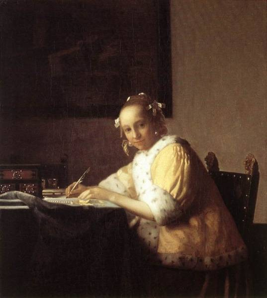 Vermeer A Lady Writing a Letter